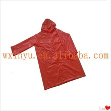 E-E0027 Fashional red waterproof rain poncho rain cape rainwear raincoat