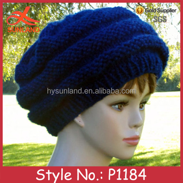 P1184 winter chunky handmade knitted sexy girls hat and cap wholesale