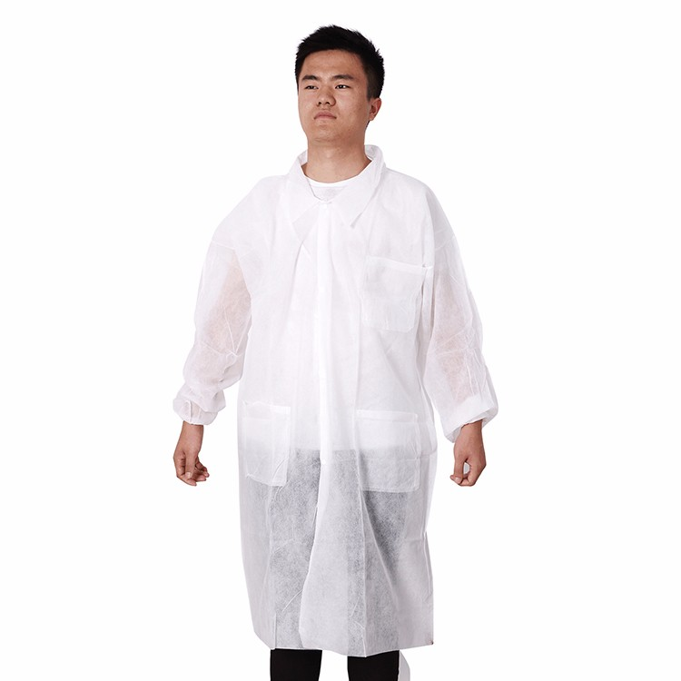 Medical Surgery Lab Coat CE Long Sleeve Non-woven Fabric Operating Gown