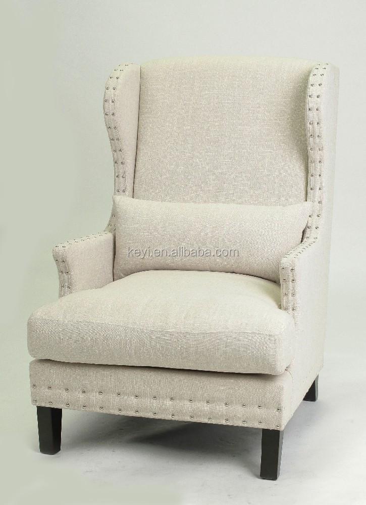 Antique Nailhead Design Fabric Leisure Sofa With Arm Ks