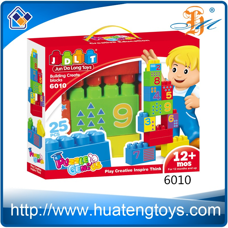 Hot Educational Game Construct ABS Building Block Set Bricks Toy