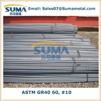 "#10 1-1/4"" ASTM A615 GR40 60 Steel Rebar price per ton, Reinforcing, construction"