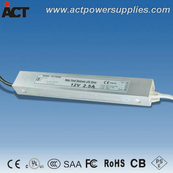 30W 12V 2.5A Waterproof LED driver