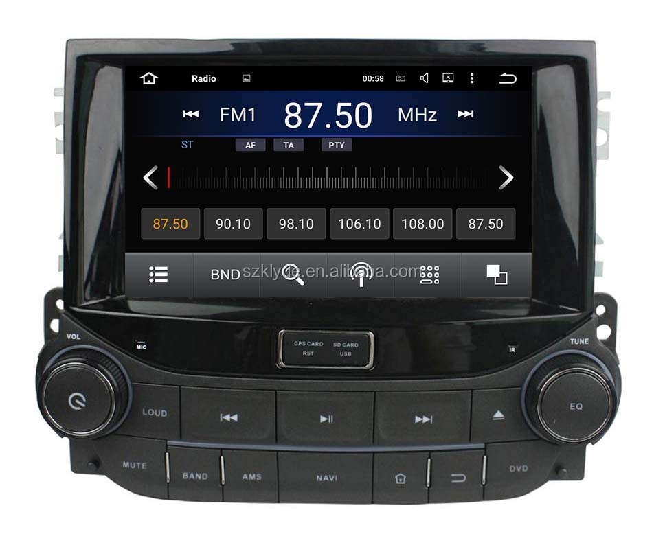 Great Bluetooth excellent sound car radio support DAB+ and WAZE map android 5.1.1 for Malibu 2015