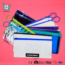 Dentist Give aways clear dental Zipper PVC pouch