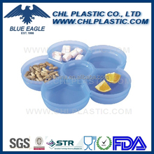 Food grade certified plastic serve tray with division