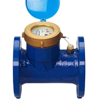 Wet type flow meter water