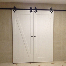 Z Brace V-Groove Pine Interior Stained Solid Wood Sliding Barn Doors