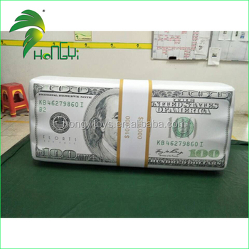 Promotional Funny Inflatable Dollar Model / PVC Decor Inflatable Air Blowed Cash Money Float