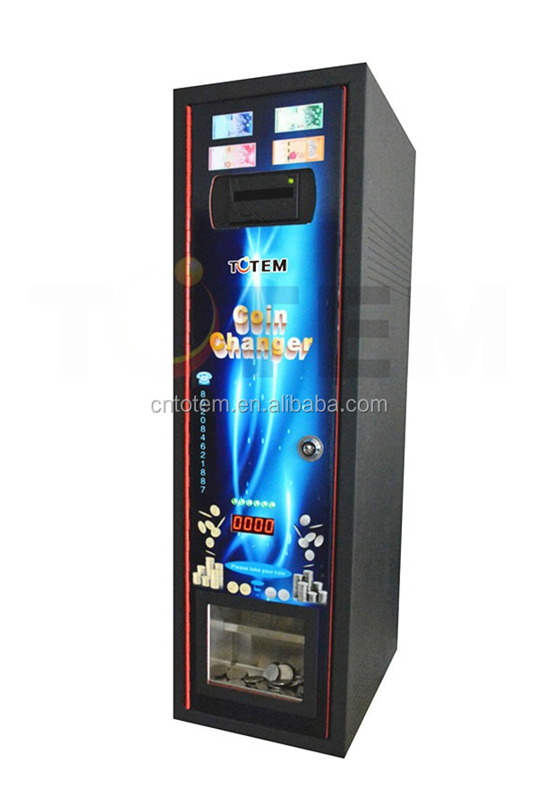 totem red wall mounted token machine/exchange machine