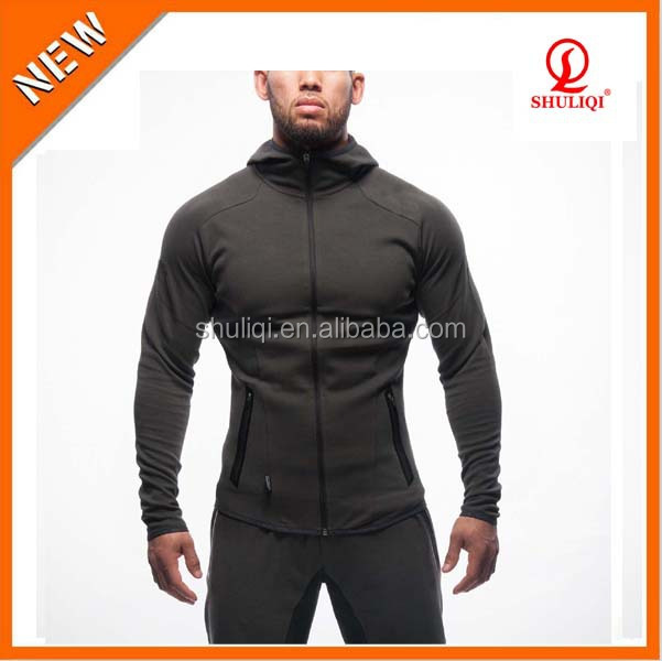 2015 Top Design Brand Mens Fitness Style High Quality Elastic Tracksuit