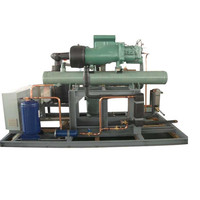 Condensing unit water cooling compressor