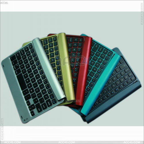 Stand Protector Aluminum Wireless Bluetooth Keyboard Case Cover for Apple Ipad Mini