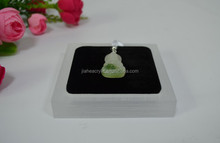 Frosted clear material acrylic gem display box pendant display holder case