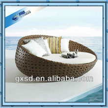 wicker furniture round chaise lounge chair
