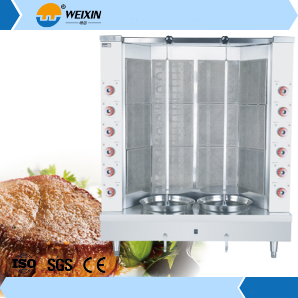Factory price chicken shawarma machine for sale