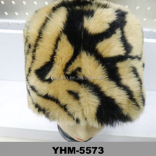 Nordic soviet snow gold black Ladies Wide Thick Pile Faux animal Fur Russian Winter soft hats
