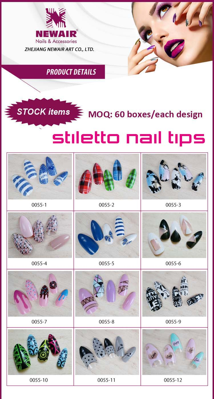 Joyme nails supplies magic geometric style new stiletto nail art product