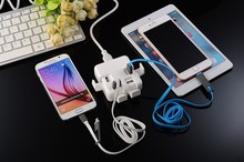 Wholesale Multi-function portable cell phone car charger and travel adapter