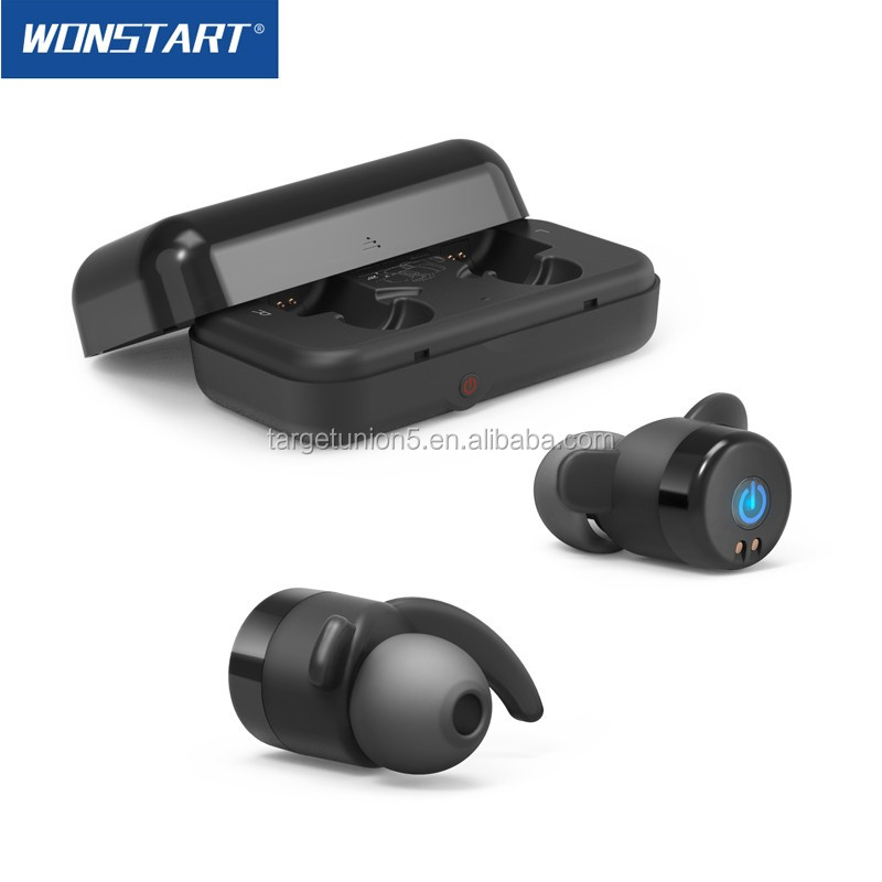 Wonstart W302 Twin Mini Wireless Bluetooth Stereo Headphone High Sound Real True Wireless Earbud