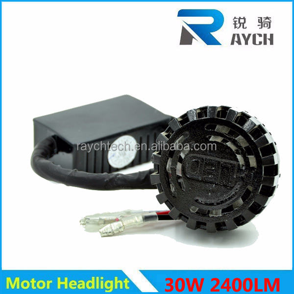 12/80V 30W 2400LM COB LED Motorcycle lights led headlight
