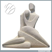 Life size garden marble stone man woman statues