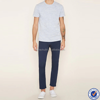 short sleeve cotton crew neck french terry t shirt with chest welt pocket
