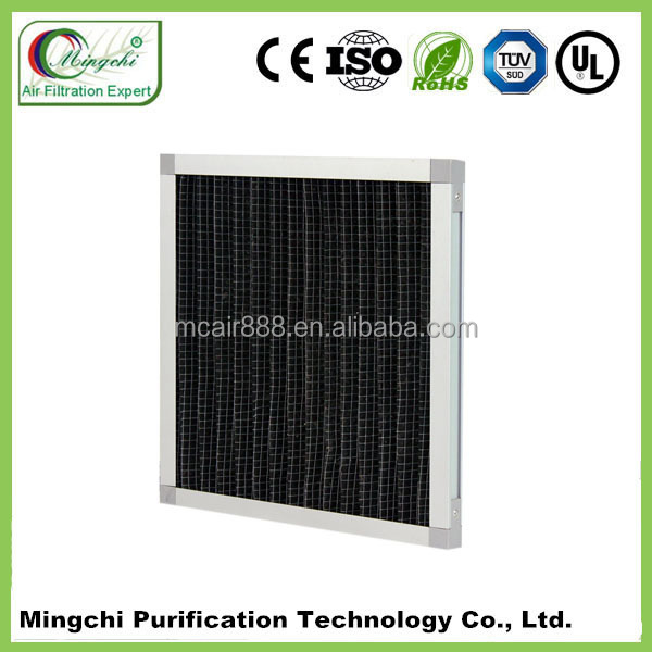 2015 new product panel A/C filter G4 activated carbon air filter