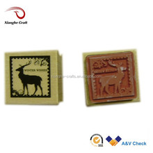 deer rare old stamps square wood stamps for chrismas