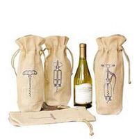 Neoprene Wine Tote Bag Jute Wine Bottle Bags