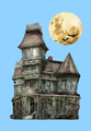 New designed Haunted house 3D Resin statue Halloween gift