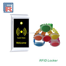 Electronic Zinc Alloy Cabinet Lock with RFID card wristband key for SPA Sauna Fitness water park