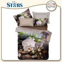 GS-FM3DF-11 chinese style pattern 3d big flowers for bedsheet fabric