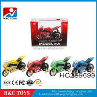 Hot sale music alloy motorcycle model,mini model car toy for promotion HC299699