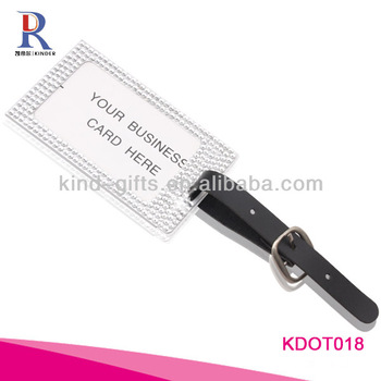 Rhinestone Metal Luggage Tags For Promotional Gift