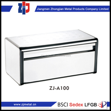 wholesale goods from china red metal bread box bread bin