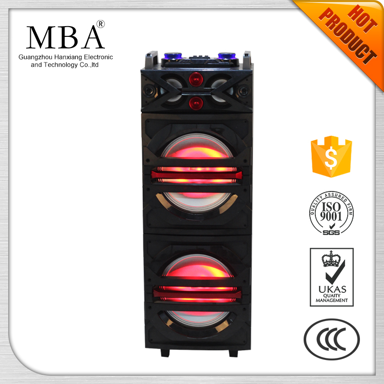 "Dual 10"" portable speakers with flash light, bluetooth ,active trolley speakers"