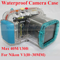wholesale underwater camera case New Stylish waterproof camera housing/diving case for Nikon V1(l0~30MM)