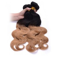 "Ombre braiding hair body wave TIB/27 20"" 22"" 24"" 26"" two tone golden color 4 pcs lot hot selling human hair extensions"