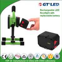 Factory Price Battery Operated Flood Lights Exterior Portable Lamp Rechargeable