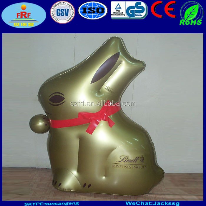 Giant Inflatable Gold Lindt Bunny for chocolate promo