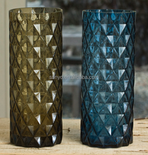 Engraved dublin customized high quality straight flower vase star popular model solid color