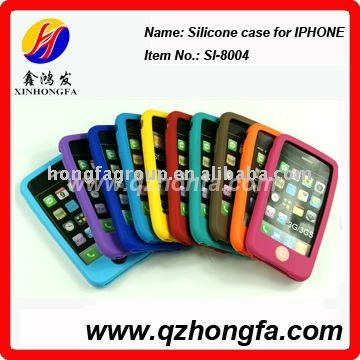 100% Pure silicone case for iphone 3G/iphone 4