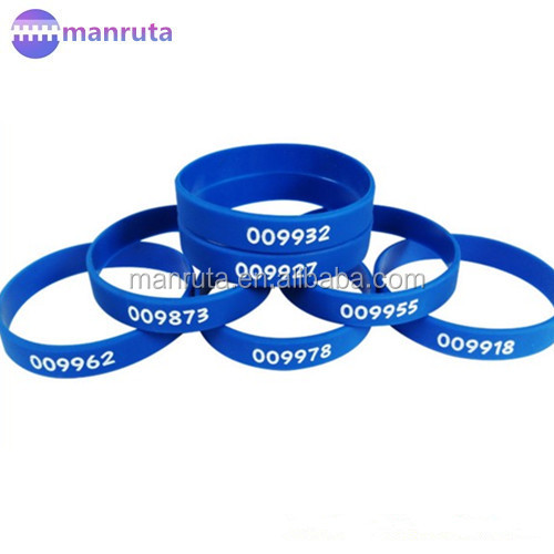 Leading manufacture Custom embossed/imprinted/printed logo Silicone Wristband / silicone bracelet