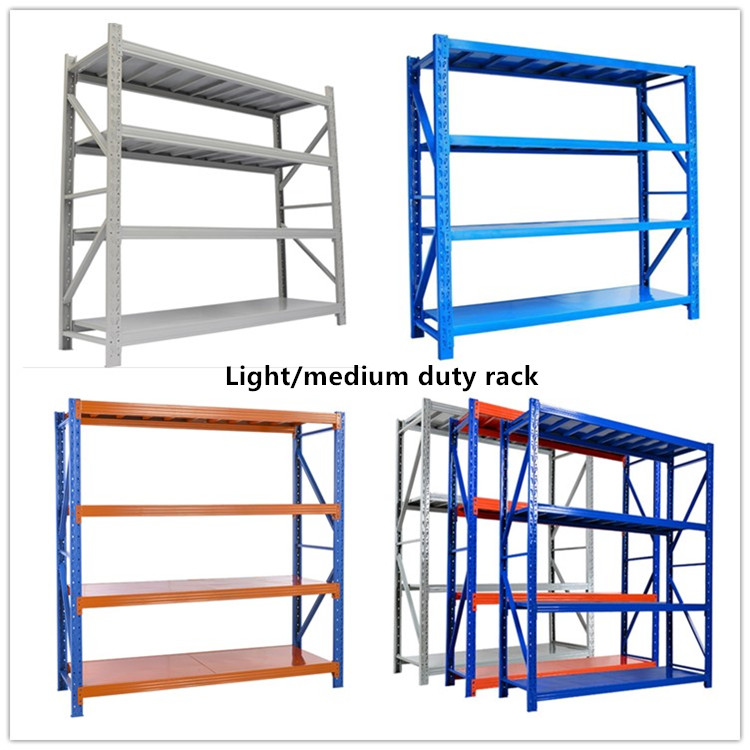 Long span shelving boltless rack light duty shelf for warehouse storage racking