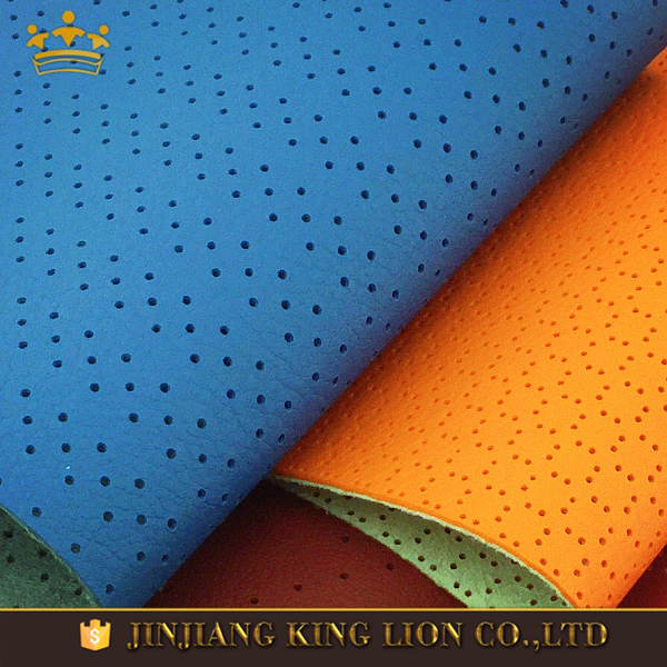 PU microfiber perforating leather fabric for car seat covers
