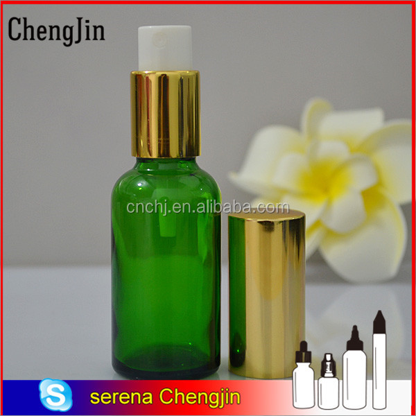 Hot! colored spray coating 30ml round glass dropper bottle for perfume in European and American markets