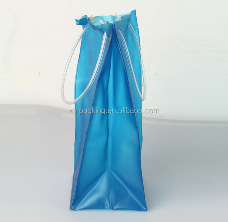 Wholesale customized made factory high quality plastic wine PVC cooler bag