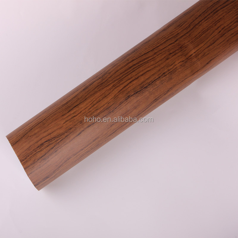 Furniture PVC wood grain decoration foil for wall