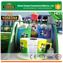 Family popular amusement park games mobile folding tea cup rides with trailer for sale